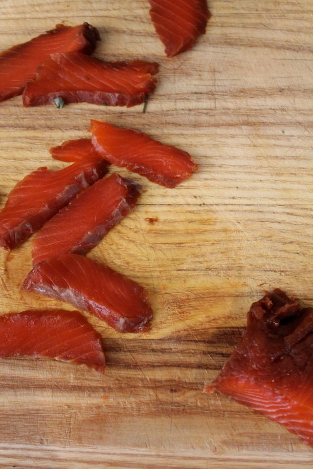 Thinly Sliced Cured Salmon